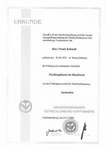 Urkunde-FrankSchmidt-Fachkaufmann-im-Handwerk
