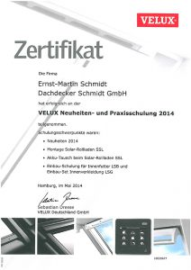 Zertifikat-Velux